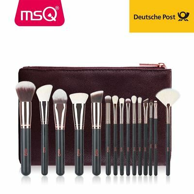 MSQ Professionelle 15tlg Kosmetik Pinsel Makeup Brush Echthaar Schminkpinsel Set