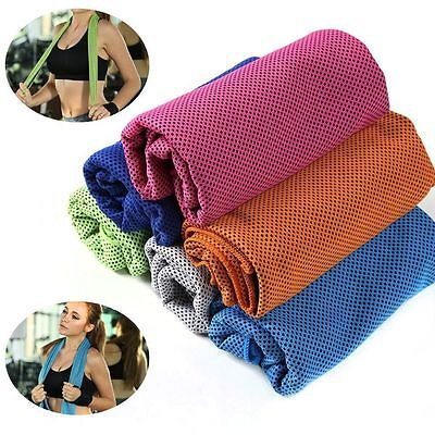 Sports Ice Cold Running Gym Jogging Yoga Chilly Pad Instant Cooling Towel w Can