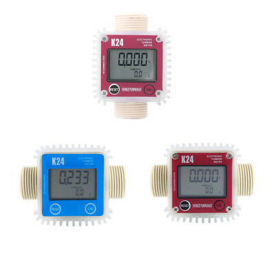 Pro K24 BSPP Turbine Digital Fuel Gauge For Diesel Flow Meter Chemicals Counter