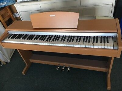 Yamaha arius ydp 141 digital portable piano dark wood second hand picclick uk for Yamaha fully weighted keyboard