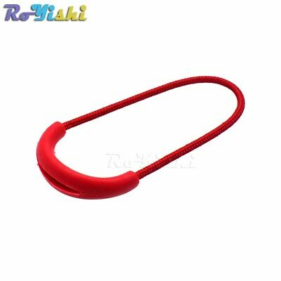 U Shape Cord Zipper Pulls Strap Lariat For Apparel Accessories Color Red