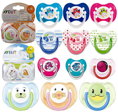 Philips 2pc Orthodontic Avent Animal Design Dummy Pacifier Silicone Teat Soother
