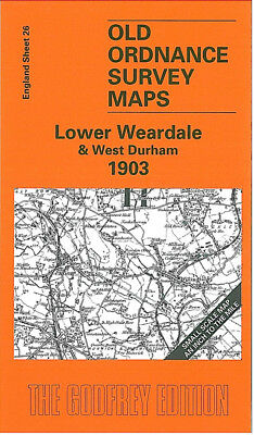 Old Ordnance Survey Map Lower Weardale West Durham 1903 Brancepeth Stanhope