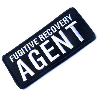 Fugitive Recovery Agent Tactical Patches Morale Badge Embroidered Hook Patch ^02