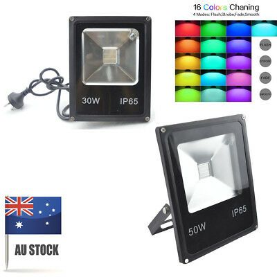 LED Flood light 30W 50W RGB Remote Control Outdoor Warehouse Stage Lighting Spot