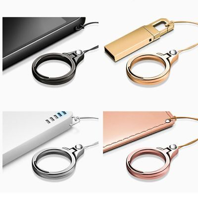 2 in 1 Multifunction Metal Cell Phone Lanyard Finger Ring Mobile Phone holder