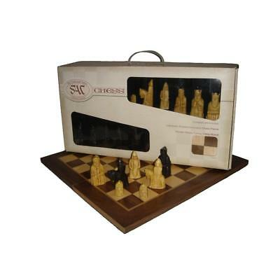 Studio Anne Carlton A102B Isle of Lewis Presentation Chess Set with 50cm board