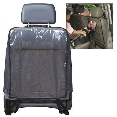 Car Auto Seat Back Protector Cover For Children Kick Mat Mud Clean BK Clear