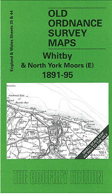 Old Ordnance Survey Map Whitby North York Moors E 1891-95 Scalby Hackness
