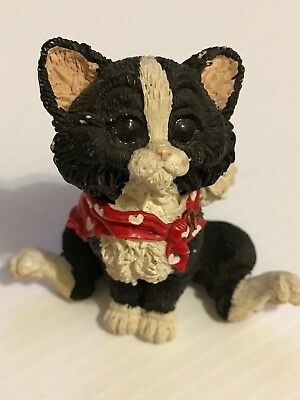 handmade black cat, hand painted.by  Sanicast