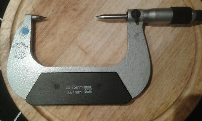 TIME PIN POINT 50-75 MM MICROMETER .01Grud.