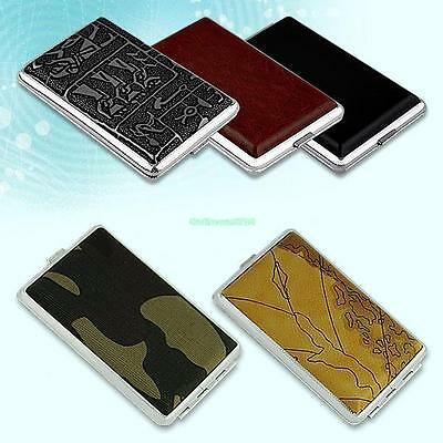 Cigars Cigarettes Tobacco Metal Case Holder Box Cover Pouch Container