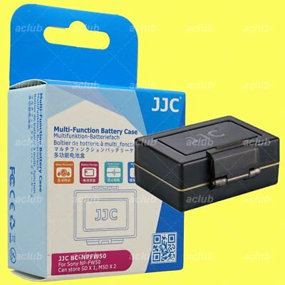 JJC BC-NPFW50 2-In-1 Battery Hard Case & SD MicroSD Card Holder for Sony NP-FW50