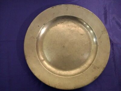"""Early 18th Century Crested Pewter Plate by Jonas Durand - 12 1/4"""""""