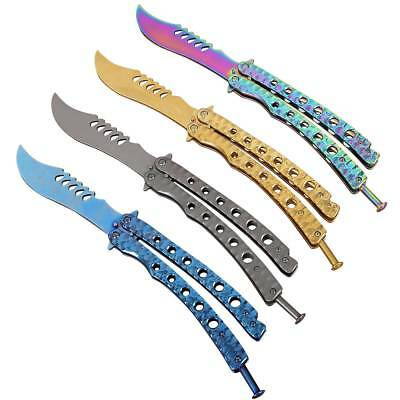 Folding Practice Butterfly Knife BALISONG Tactical Combat Trainer Blunt Knife