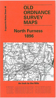 Old Ordnance Survey Map North Furness Cartmel Millom Ulverston Holker 1896