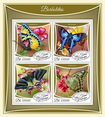 Z08 IMPERF ST17506a Sao Tome and Principe 2017 Butterflies MNH Mint