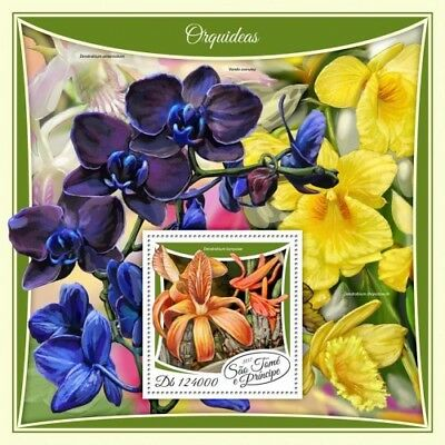 Z08 IMPERF ST17508b Sao Tome and Principe 2017 Orchids MNH Mint