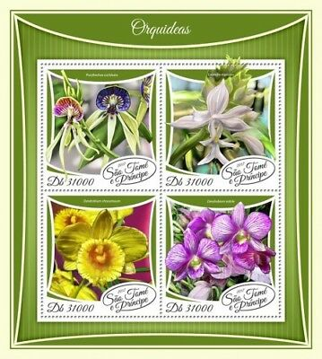 Z08 IMPERF ST17508a Sao Tome and Principe 2017 Orchids MNH Mint