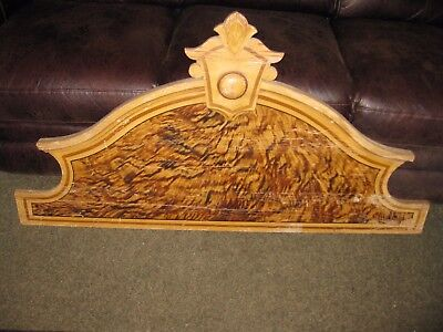 """Large Antique Pediment Architectural Salvage Wood Piece Salvage Wall Hanging 53"""""""