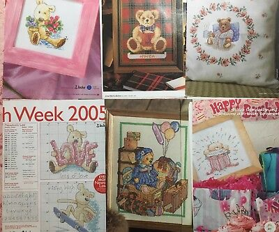 Assorted Cross Stitch Collection Patterns. Sorted by theme- Teddy Bears