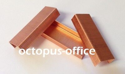 Gold or Copper Coloured Staples For Use In Most Staplers 24/6 26/6 - Box of 1000