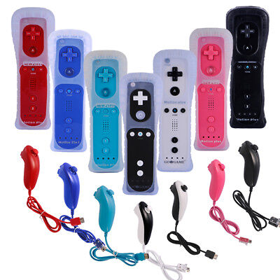 Wii Remote and Nunchuck Controller Built in Motion Plus for Wii & Wii U Console