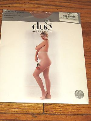 Woman's Duo Maternity Pantyhose Medium Support Beige/Sand Size XL NWT