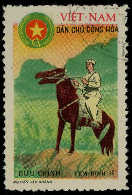 Vietnam 1961 free postage stamp for members of the military, used, MiNr. 5