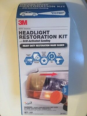3M Headlight Restoration Kit With Drill-activated Sanding #39165