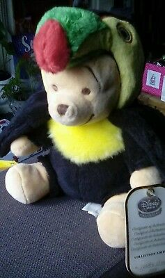 Rare Disney Store Limited Ed. Only 1500 Made Winnie Pooh Plush Toy Toucan