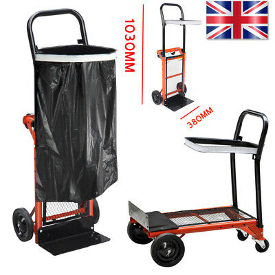 600LB Heavy Duty Industrial Hand Sack Truck Trolley Warehouse Pneumatic Tyre