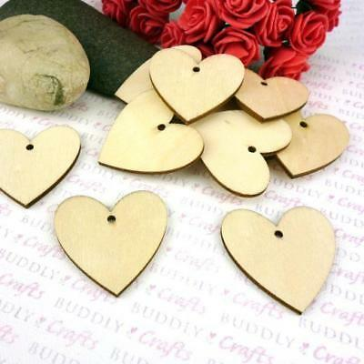 Buddly Crafts Wooden Heart Tags