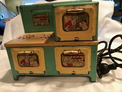 Vintage 1930's Little Orphan Annie Electric Metal Stove