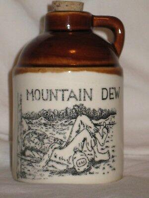 "Pepsi Mountain Dew Stoneware Jug - 4 3/4"" Tall - Mint Cond. -"