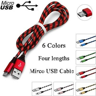 0.2M 1M 2M 3M Micro USB Fast Charging Data Sync Cable Cord For Samsung Android
