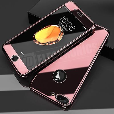 360° Full Body Shockproof Case Mirror Cover+Tempered Glass For iPhone XS Max XR