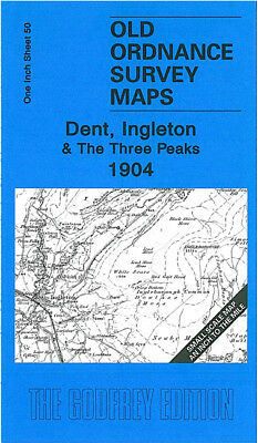 Old Ordnance Survey Map Dent Ingleton The Three Peaks 1904 Hawes Kettlewell