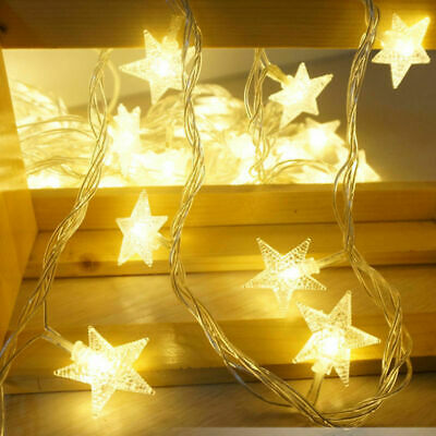 US Star Fairy Light 40LED String Party Christmas Wedding Party Hanging Decor NEW