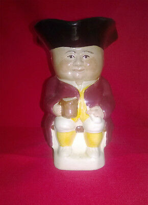 Toby Character Jug Tony Wood Staffordshire England Seated man with beer tankard