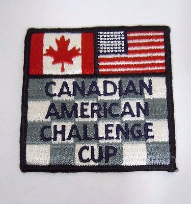 "Vintage CAN-AM Challenge Cup Embroidered Sew-On Patch 3.25"" Road Racing"