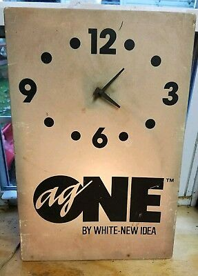 White Farm Equipment advertising clock Ag one agco tractor oliver