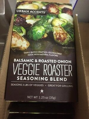 Urban Accents Veggie Roaster - Balsamic and Roasted Onion - Case of 6 - 1.25 oz.