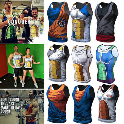 3D Dragon Ball Z Training GYM Tank Tops T-Shirt Men Women Son Goku Vegeta Vest