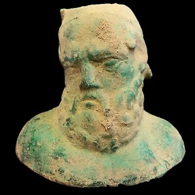 Very Rare HUGE Ancient Roman Bronze Male Bust 200-400 AD NO RESERVE!