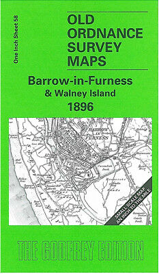Old Ordnance Survey Map Barrow In Furness Walney Island 1896 Gleaston Stank