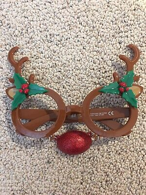 Christmas Fun Eye Glasses Reindeer Noses Costume Dress Up