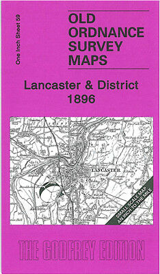 Old Ordnance Survey Map Lancaster 1896 Carnforth Heysham Morecambe Glasson