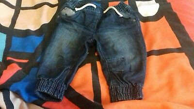 baby boys navy cuffed jeans 3-6 months