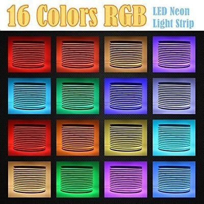 110V RGB Multicolor Commercial LED Neon Rope Light Flex Tube Sign Color Changing